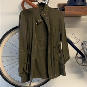 Green Zara jacket